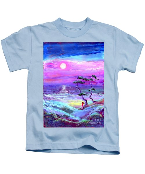 Moon Pathway,seascape Kids T-Shirt