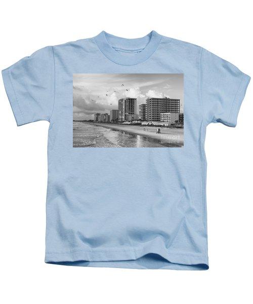 Morning At Daytona Beach Kids T-Shirt