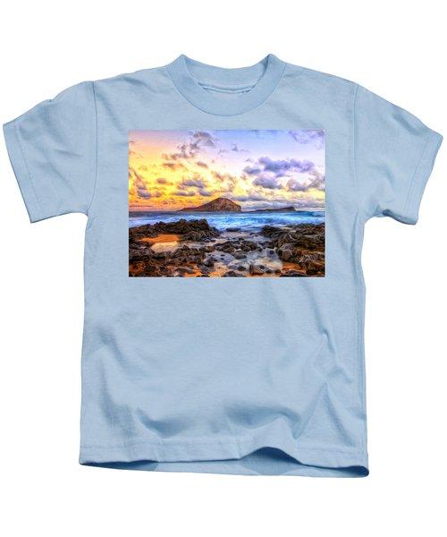 Morning At Makapuu Kids T-Shirt