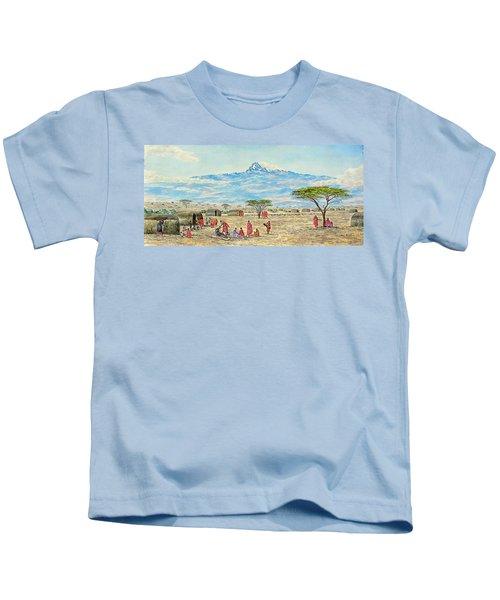 Mountain Village Kids T-Shirt