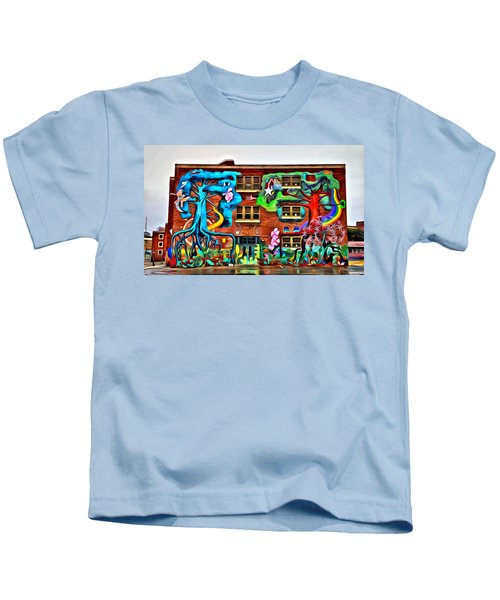 Mural On School Kids T-Shirt