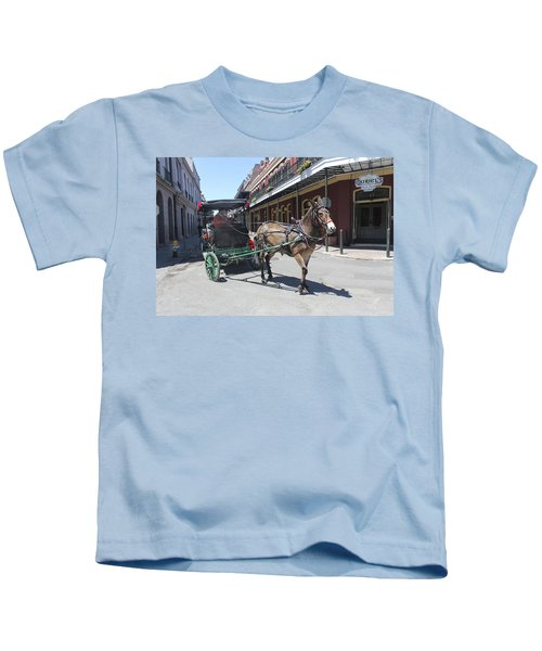 Carriage Ride In New Orleans 21 Kids T-Shirt