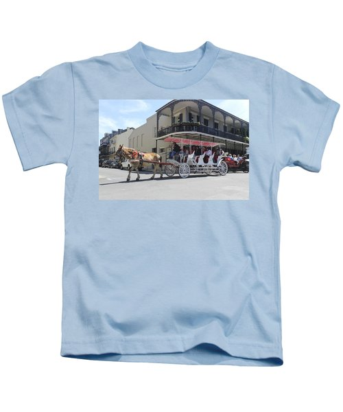 Carriage Ride In New Orleans 22 Kids T-Shirt