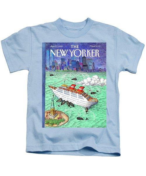 New Yorker April 9th, 1990 Kids T-Shirt