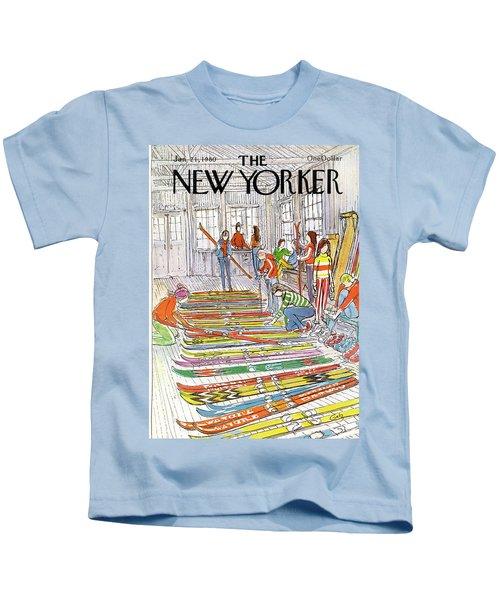 New Yorker January 21st, 1980 Kids T-Shirt
