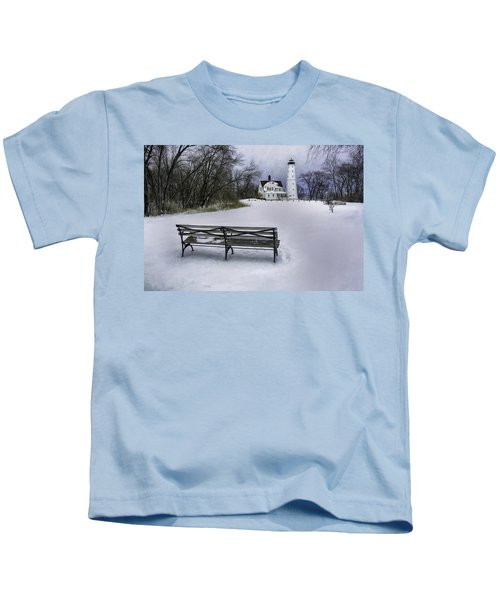 North Point Lighthouse And Bench Kids T-Shirt