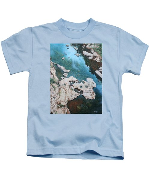 Ocoee River Low Tide Kids T-Shirt