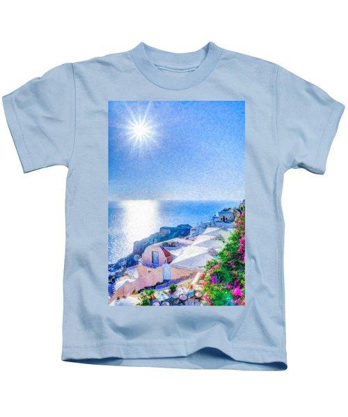 Oia Santorini Grk4178 Kids T-Shirt