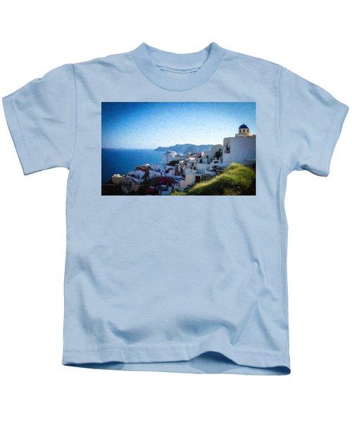 Oia Santorini Grk4332 Kids T-Shirt