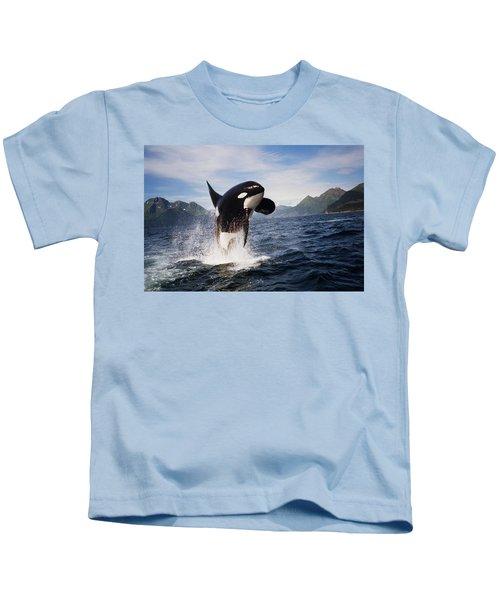 Orca Breach Kids T-Shirt