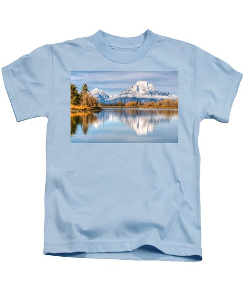 Oxbow Bend Reflections 0076 Kids T-Shirt