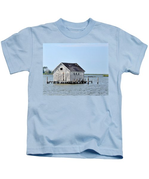 Oyster Shucking Shed Kids T-Shirt