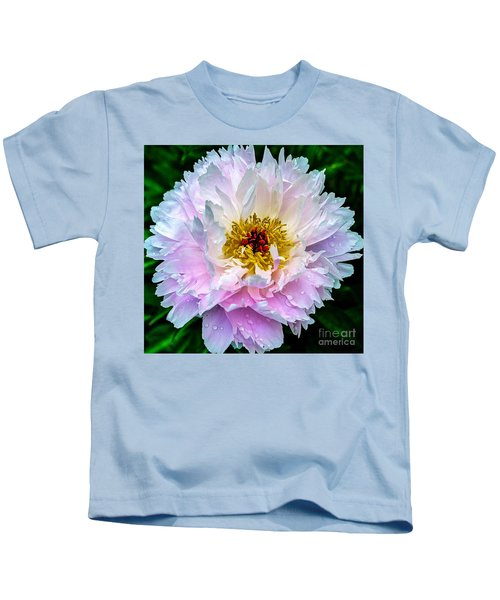 Peony Flower Kids T-Shirt