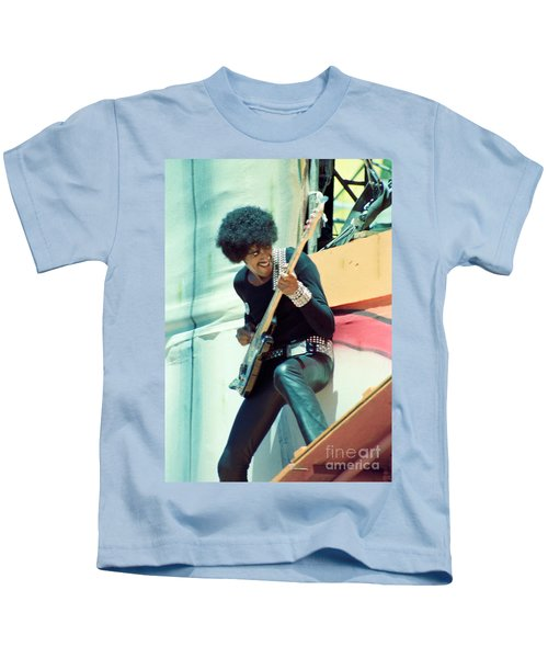 Phil Lynott Of Thin Lizzy - Black Rose Tour Day On The Green 7-4-79  Kids T-Shirt