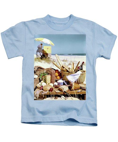 Picnic Display On The Beach Kids T-Shirt