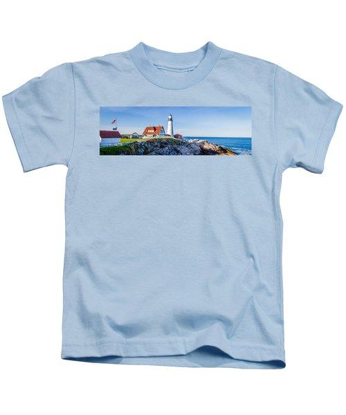 Portland Head Light House Cape Elizabeth Maine Kids T-Shirt