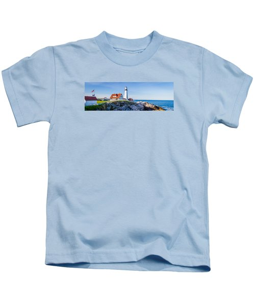 Portland Head Light House Cape Elizabeth Maine Kids T-Shirt