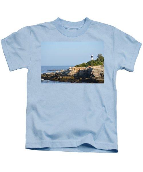 Portland Head Light In Summer Kids T-Shirt
