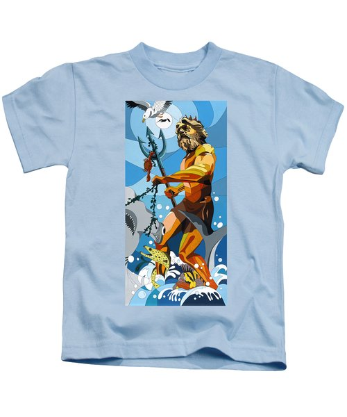 Poseidon - W/hidden Pictures Kids T-Shirt