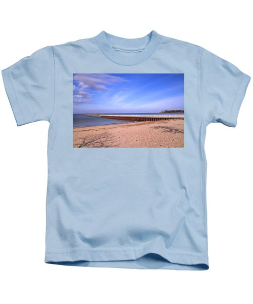 Prybil Beach Pier Kids T-Shirt