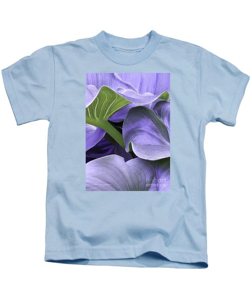 Purple Calla Lily Bush Kids T-Shirt