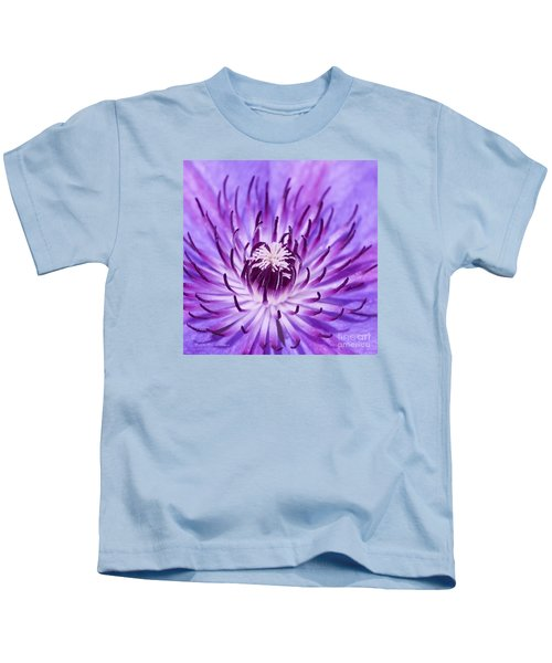 Purple Clematis Kids T-Shirt