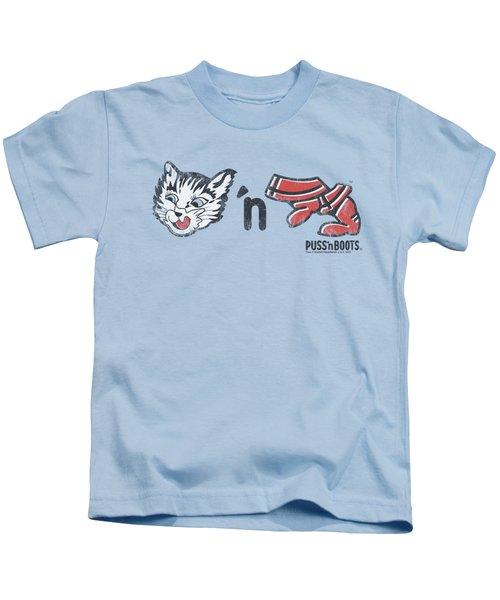 Puss N Boots - Rebus Logo Kids T-Shirt
