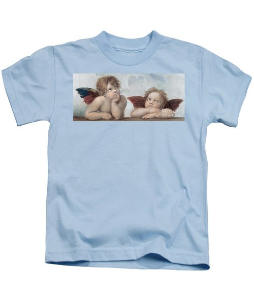 Putti Detail From The Sistine Madonna Kids T-Shirt