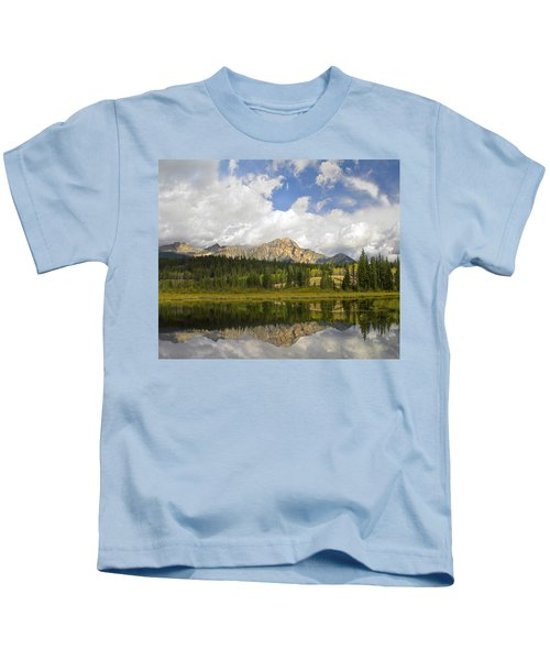 Pyramid Mountain And Cottonwood Slough Kids T-Shirt