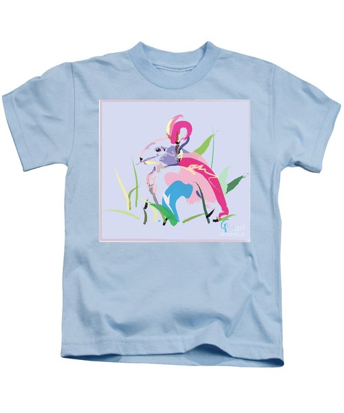 Rabbit - Bunny In Color Kids T-Shirt