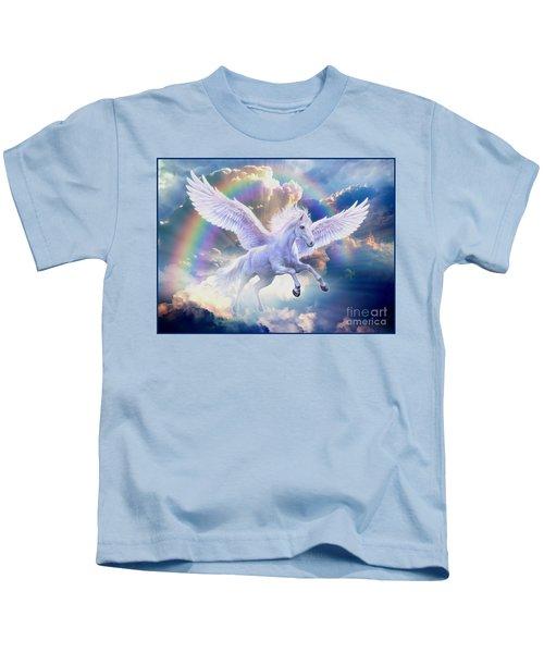 Rainbow Pegasus Kids T-Shirt by Jan Patrik Krasny