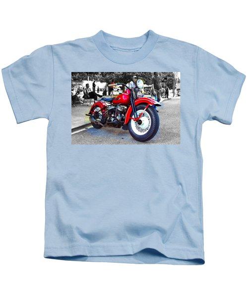 Red Rider On Black Kids T-Shirt