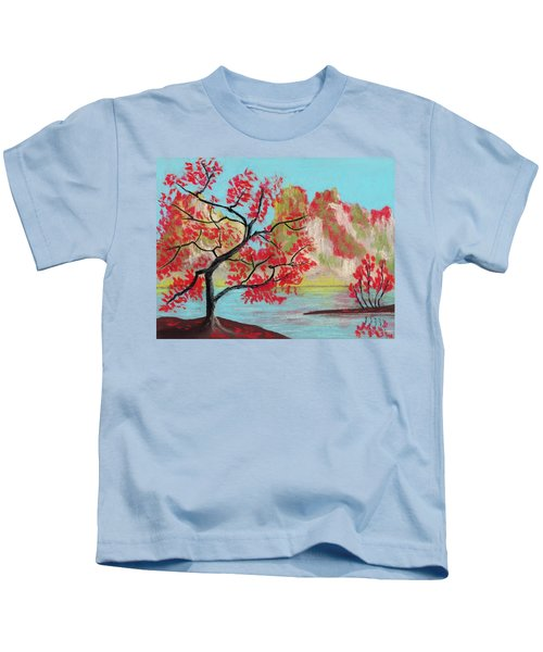 Red Trees Kids T-Shirt