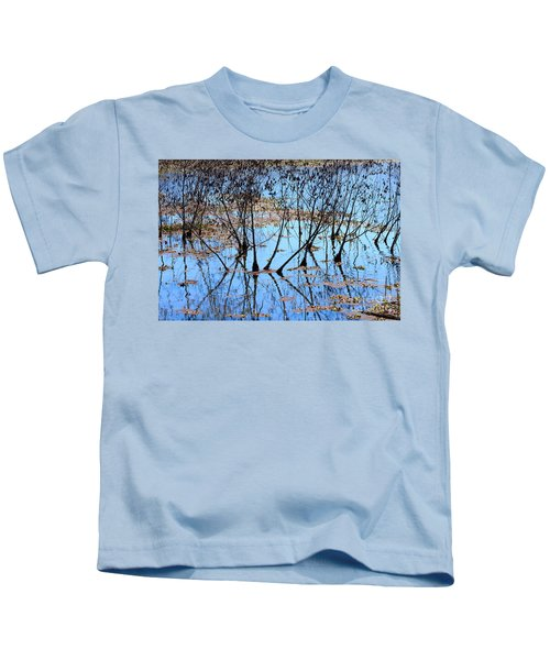 Reflections And Silhouetted Trees Kids T-Shirt