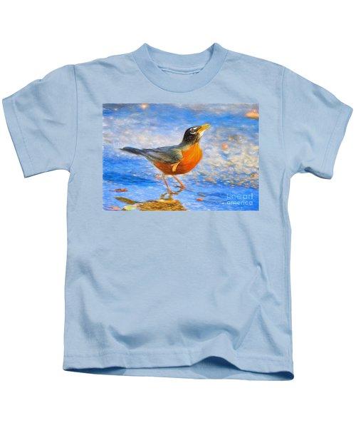 Robin In Florida Kids T-Shirt