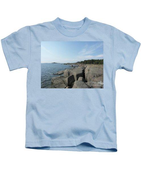 Rocky Seashore 2 In Hamina  Kids T-Shirt