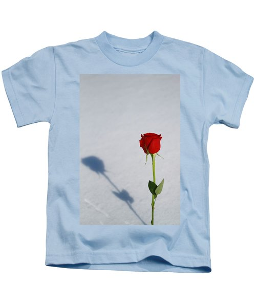 Rose In Snow Spring Approaches Kids T-Shirt