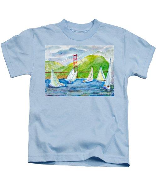 Sailboat Race At The Golden Gate Kids T-Shirt