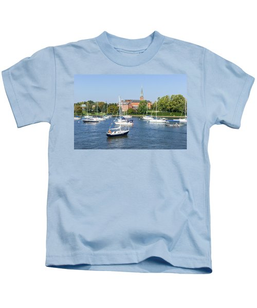 Sailboats By Charles Carroll House Kids T-Shirt