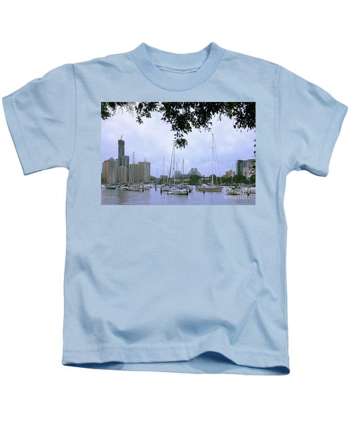 Sailboats In Brisbane Australia Kids T-Shirt