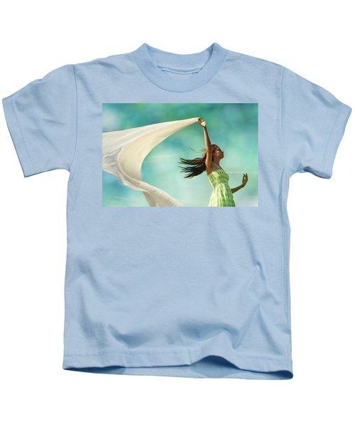 Sailing A Favorable Wind Kids T-Shirt