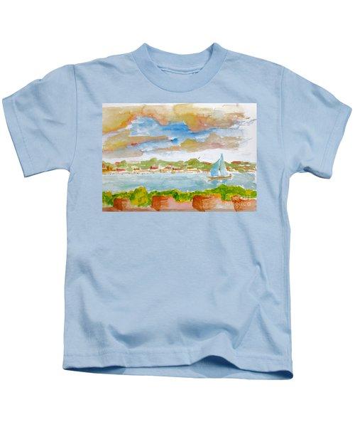 Sailing On The River Kids T-Shirt