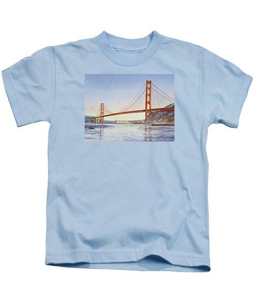 San Francisco California Golden Gate Bridge Kids T-Shirt