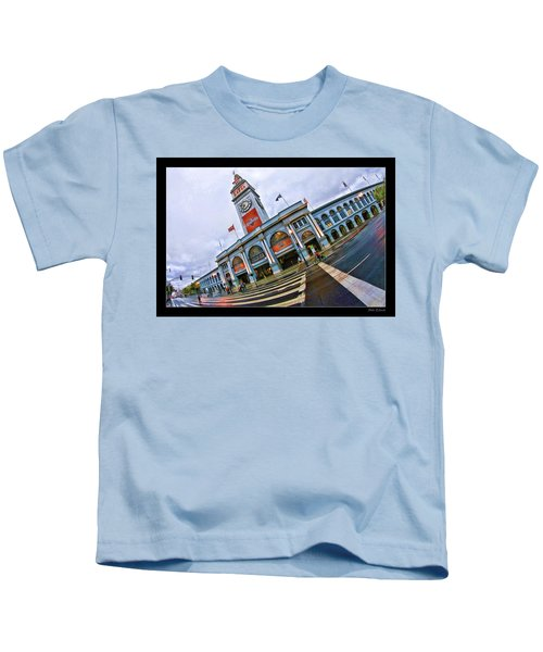San Francisco Ferry Building Giants Decorations. Kids T-Shirt