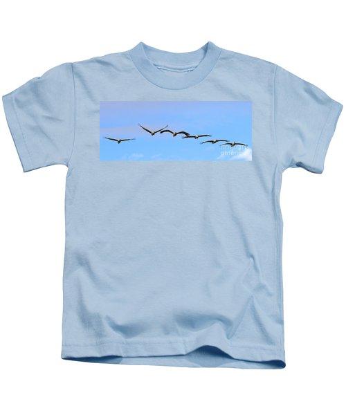 Sandhill Crane Flight Pattern Kids T-Shirt
