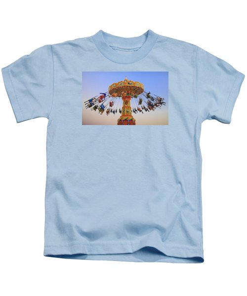 Santa Cruz Seaswing At Sunset 8 Kids T-Shirt