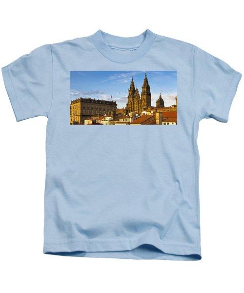 Santiago De Compostela Cathedral Galicia Spain Kids T-Shirt