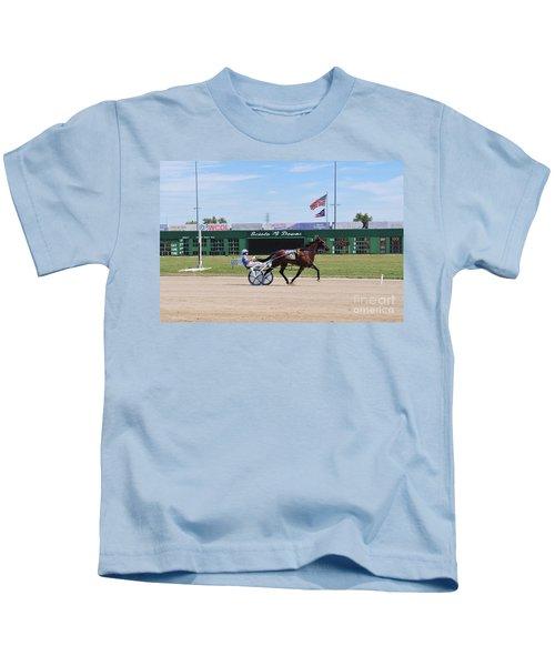 D3w-206 Scioto Downs Photo Kids T-Shirt