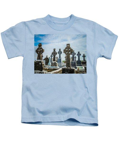 Sea  Of Celtic Crosses Kids T-Shirt