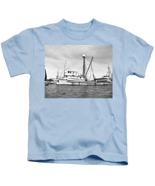 Purse Seiner Sea Queen Monterey Harbor California Fishing Boat Purse Seiner Kids T-Shirt